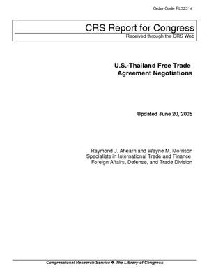 U.S.-Thailand Free Trade Agreement Negotiations