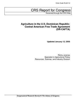 Agriculture in the U.S.-Dominican Republic Central American Free Trade Agreement (DR-CAFTA)