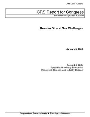 Russian Oil and Gas Challenges