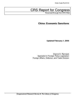 China: Economic Sanctions