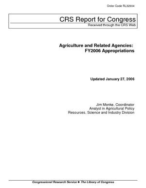 Agriculture and Related Agencies: FY2006 Appropriations
