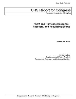 NEPA and Hurricane Response, Recovery, and Rebuilding Efforts