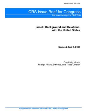 Israel: Background and Relations with the United States