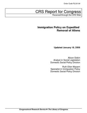 Immigration Policy on Expedited Removal of Aliens