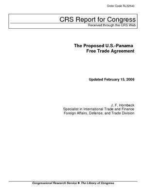 The Proposed U.S.-Panama Free Trade Agreement