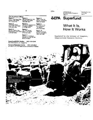 Superfund: What It Is, How It Works