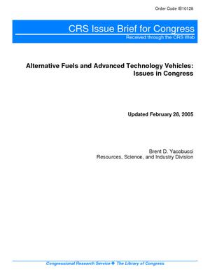 Alternative Fuels and Advanced Technology Vehicles: Issues in Congress