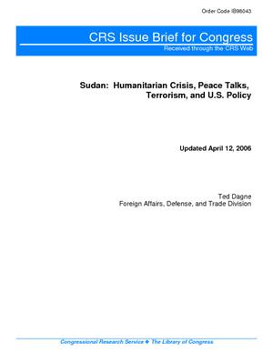 Sudan: Humanitarian Crisis, Peace Talks, Terrorism, and U.S. Policy