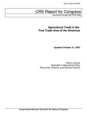 Agricultural Trade in the Free Trade Area of the Americas