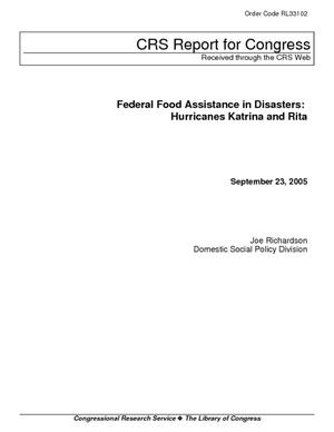 Federal Food Assistance in Disasters: Hurricanes Katrina and Rita