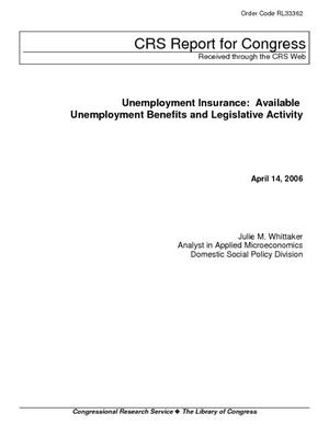 Unemployment Insurance: Available Unemployment Benefits and Legislative Activity