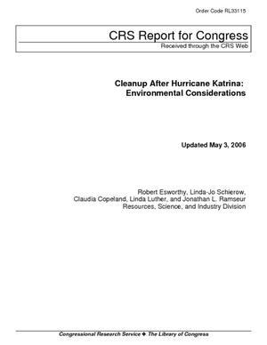 Cleanup After Hurricane Katrina: Environmental Considerations