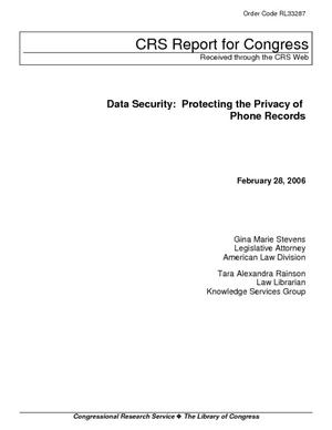 Data Security: Protecting the Privacy of Phone Records