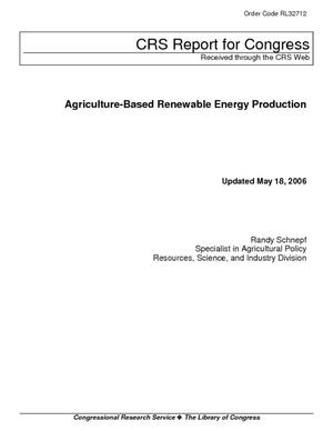 Agriculture-Based Renewable Energy Production