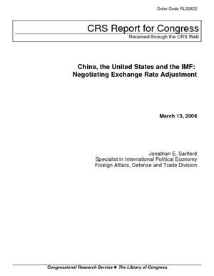 China, the United States and the IMF: Negotiating Exchange Rate Adjustment