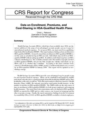 Data on Enrollment, Premiums, and Cost-Sharing in HAS-Qualified Health Plans