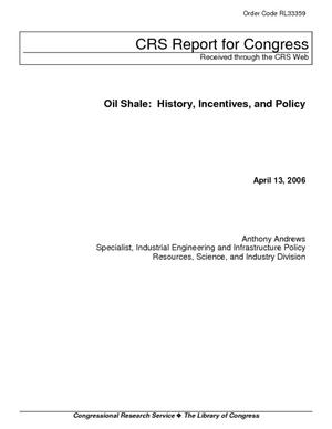 Oil Shale: History, Incentives, and Policy