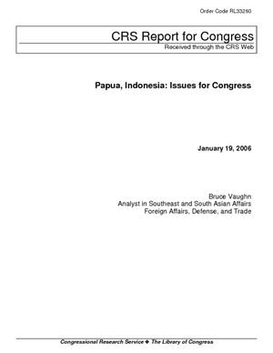 Papua, Indonesia: Issues for Congress