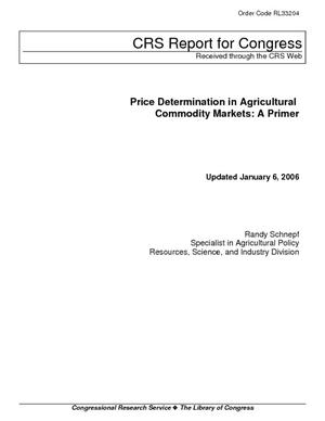 Price Determination in Agricultural Commodity Markets: A Primer