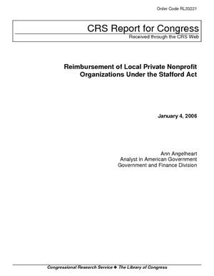 Reimbursement of Local Private Nonprofit Organizations Under the Stafford Act