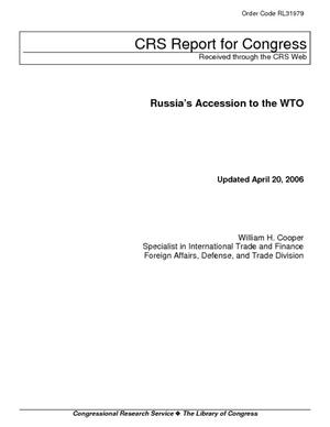 Russia's Accession to the WTO