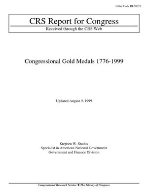 Congressional Gold Medals 1776-1999