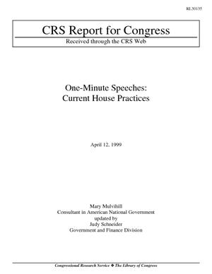 One-Minute Speeches: Current House Practices