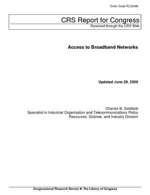 Access to Broadband Networks