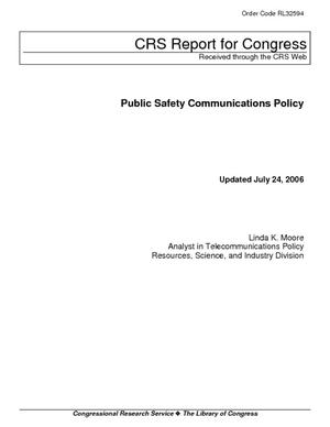 Public Safety Communications Policy