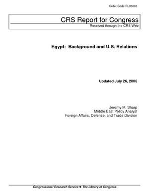 Egypt: Background and U.S. Relations