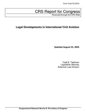 Legal Developments in International Civil Aviation