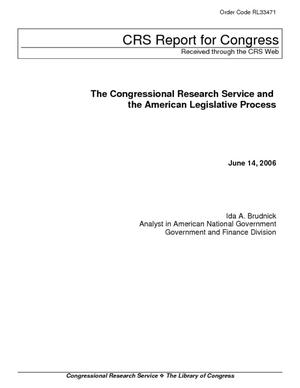The Congressional Research Service and the American Legislative Process