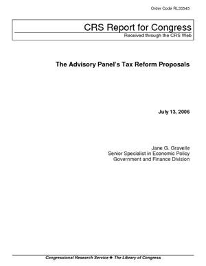The Advisory Panel's Tax Reform Proposals