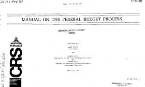 Manual on the Federal Budget Process