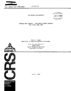 Federal Drug Control: President's Budget Request for Fiscal Year 1988