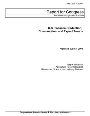 U.S. Tobacco Production, Consumption, and Export Trends