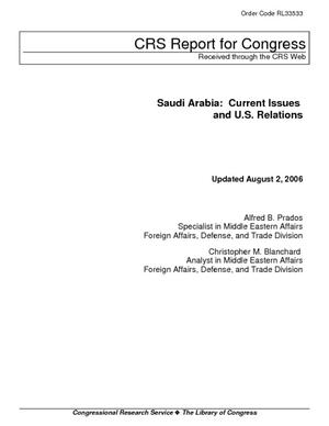 Saudi Arabia: Current Issues and U.S. Relations