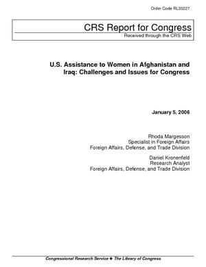 U.S. Assistance to Women in Afghanistan and Iraq: Challenges and Issues for Congress