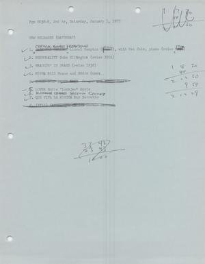 Primary view of object titled 'Music USA playlists, 1977'.