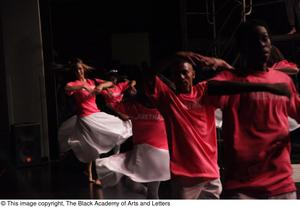 Primary view of object titled '[Dancers performing at Aretha: The Musical]'.