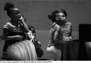 Primary view of object titled '[Girls watching off stage]'.