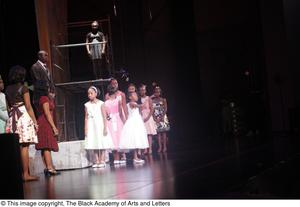Primary view of object titled '[A scene from Aretha: The Musical]'.