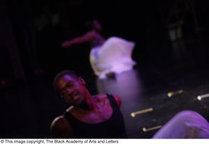 Primary view of object titled '[Dancers perform in Aretha: The Musical]'.