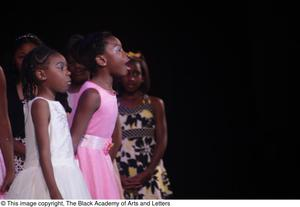 Primary view of object titled '[Young actresses in Aretha: The Musical]'.