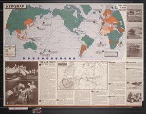 Primary view of object titled 'Newsmap. Monday, November 16, 1942 : week of November 6 to November 13'.