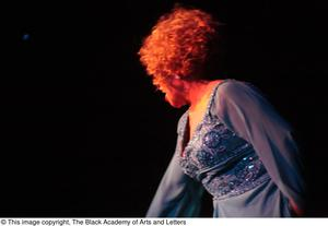 Primary view of object titled '[Unidentified Performer on Stage]'.