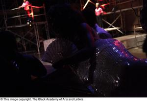 Primary view of object titled '[Ensemble of actors in Aretha: The Musical]'.