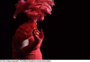 Primary view of object titled '[Performer in red]'.
