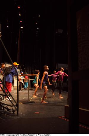 Primary view of object titled '[Onstage Dancers Rehearsing]'.