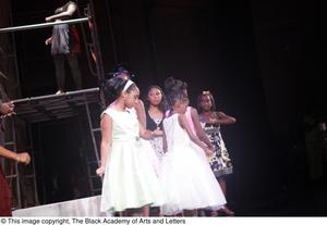 Primary view of object titled '[Young actresses at Aretha: The Musical]'.